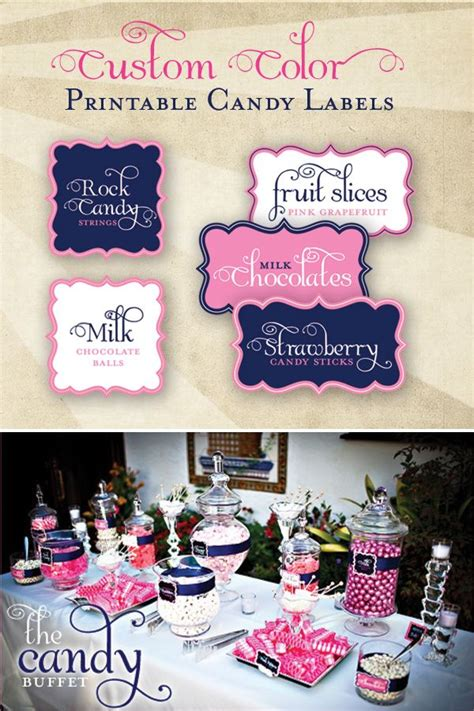Buffet Table Labels