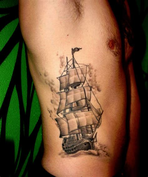 sailing ship tattoo ship wheel meaning