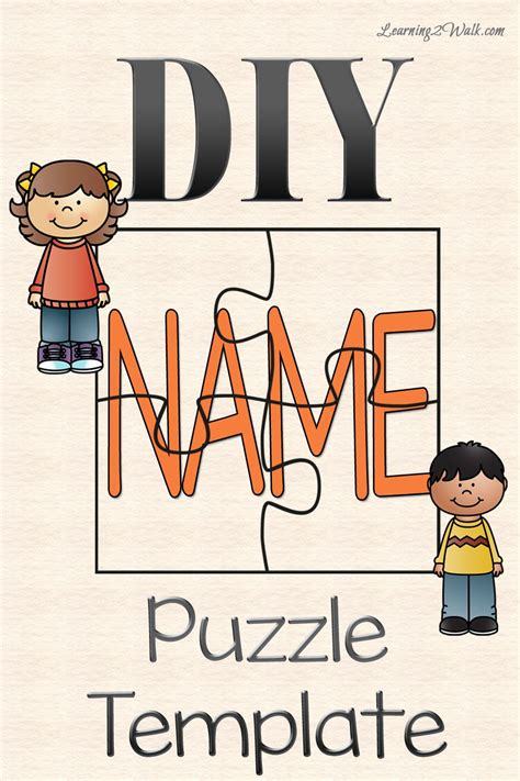 diy name puzzle template template free and activities