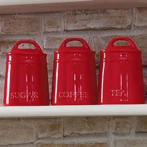 Red Kitchen Canisters country red kitchen canister collection dunelm