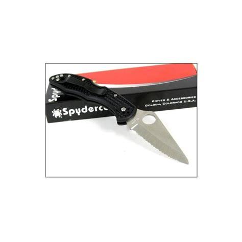 spyderco vg 10 couteau spyderco delica 4 lame acier vg 10 serrated manche