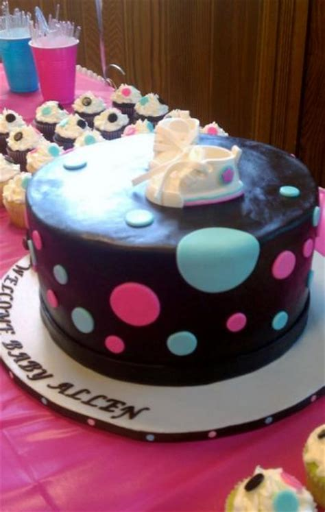 Baby Shower Cake With Baby On Top by Chocolate Baby Shower Cake With Baby Shoes On Top