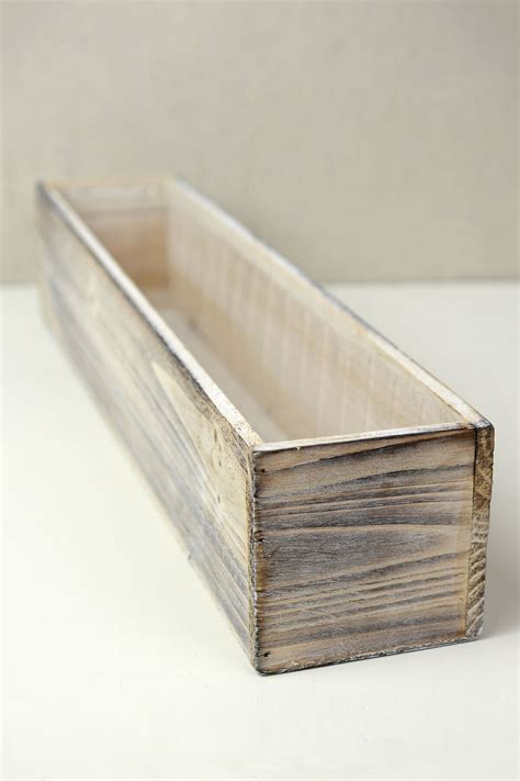white washed wood 20x4 planter box