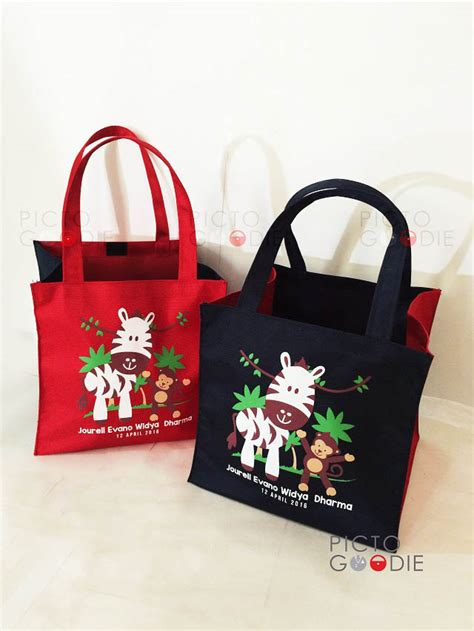 Tas Ulah Goodie Bag Souvenir Busur tas goodie animal pictogoodie