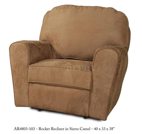 modern rocker recliners camel fabric stylish modern handle rocker recliner