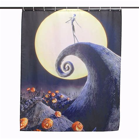 halloween shower curtain hooks other bathroom halloween nightmare moon skull polyester