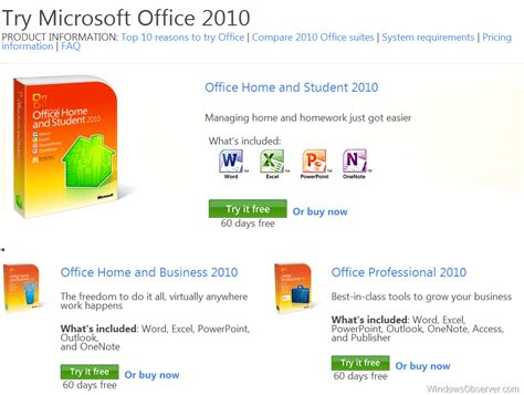 office 2010 home and business trial key olive crown