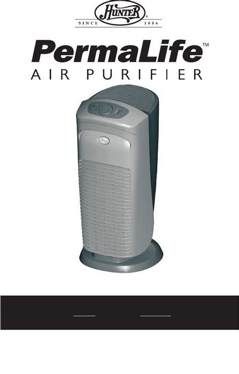hunter fan air purifier filters hunter fan air cleaner 30748 user guide manualsonline com