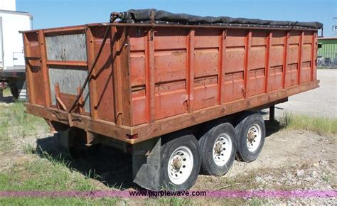 dump bed trailer dump bed grain trailer item bz9695 sold september 14