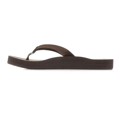 reef comfort flip flops womens reef cushion luna brown comfort flip flop sandals