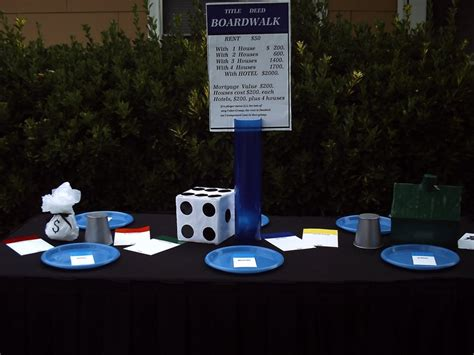 monopoly themed events table centerpieces a monopoly themed party event