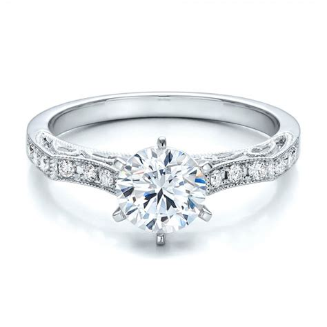 filigree engagement ring vanna k 100691