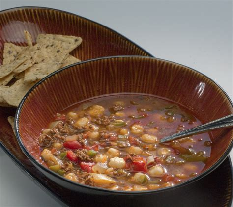 rubber suits lukewarm soup books warm up with this spicy venison and hominy soup