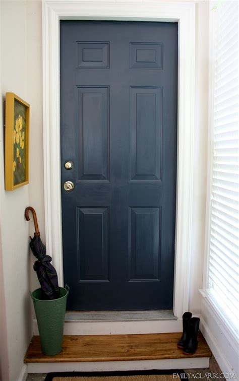 navy blue front door painting our dirtiest door and a new favorite navy emily a clark
