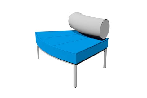 Ottoman With Backrest From Our Galaxy Seating Range Galaxy Radial Ottoman Outside Backrest Is A Modular Wedge