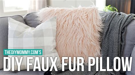 faux fur pillow how to sew a diy faux fur pillow cover faux fur sewing