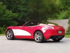 2007 saturn sky red line convertible 2 door 2 0l custom paint wheels