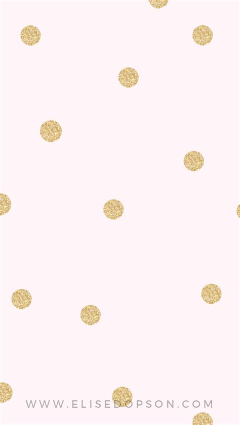 wallpaper with gold spots blush pink gold confetti spots dots iphone phone wallpaper