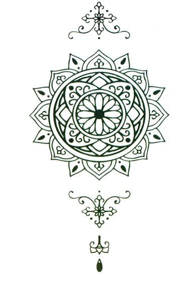 henna mandala sleeve tattooforaweek temporary tattoos