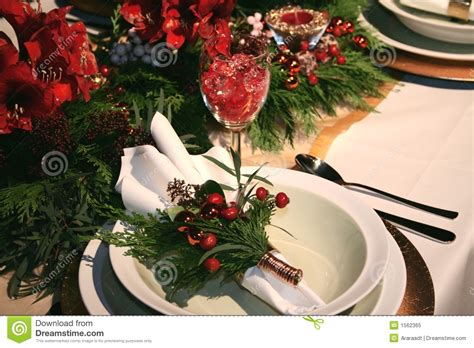 christmas table decoration stock image image of