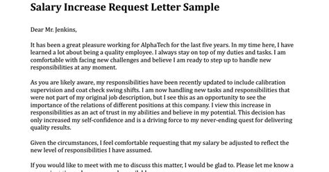 request for salary increase template salary increase request letter sle pdf drive