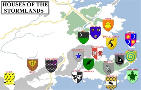 noble houses of westeros geographic map 12 the stormlands atlas of ice and fire