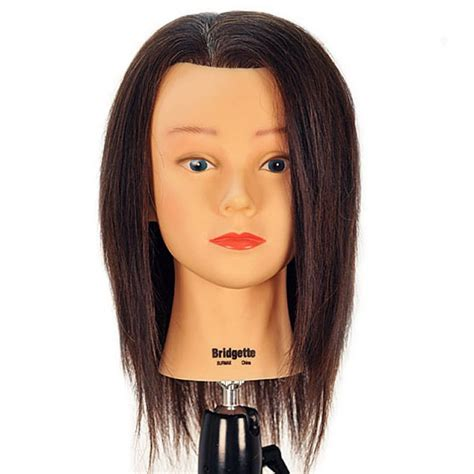 Cosmetology Human Hair Mannequin Heads by Bridgette 17 Quot 100 Human Hair Brown Cosmetology Mannequin