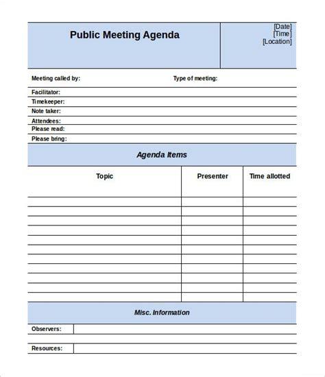 50 Meeting Agenda Templates Pdf Doc Free Premium Templates Meeting Agenda Template Free
