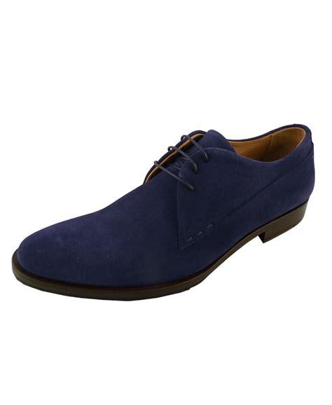 bellante navy suede formal shoe