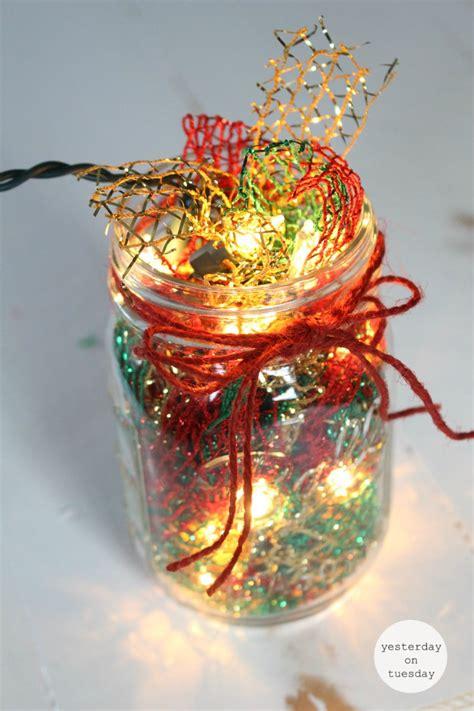mason jar christmas lights lighted christmas mason jar yesterday on tuesday