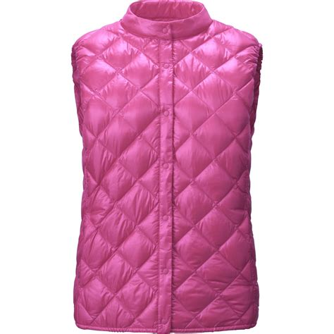 Uniqlo Quilted Jacket by Uniqlo Ultra Light Compact Quilted Vest In Pink