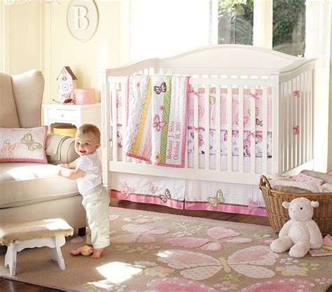 butterfly nursery bedding set camille butterfly nursery bedding set pottery barn