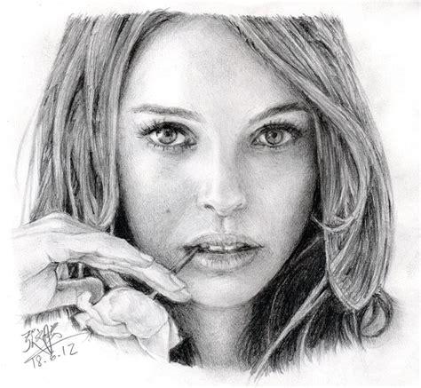 pencil sketch portrait artists pencil portrait of natalie portman by chaseroflight on