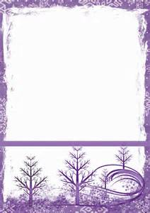 winter templates winter stationery