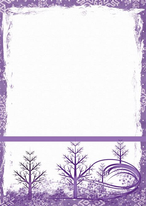 winter templates winter 1 a4 theme free digital stationery