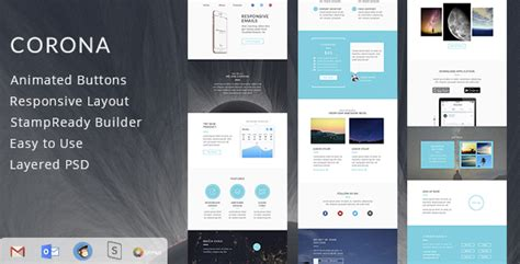 responsive email template builder 50 best multipurpose responsive email templates 2016