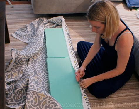how to make a bench seat cushion cover diy bench cushion