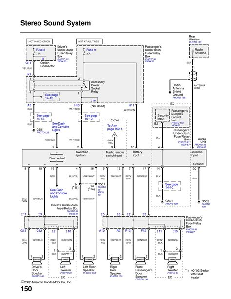 2002 honda civic radio wiring diagram wiring diagram and