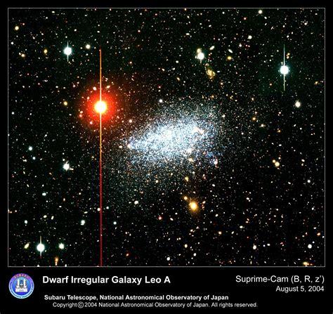 apod  november  leo  nearby dwarf irregular galaxy