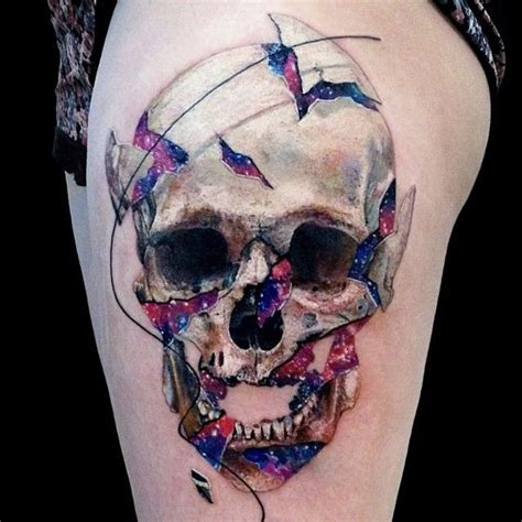 awesome terrific realistic skull tattoo great awesome pictures tattooimages biz
