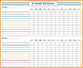 Free Bill Paying Organizer Template by 4 Monthly Bill Payment Organizer Monthly Bills Template