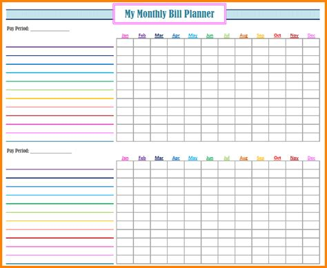 free bill paying organizer template 4 monthly bill payment organizer monthly bills template