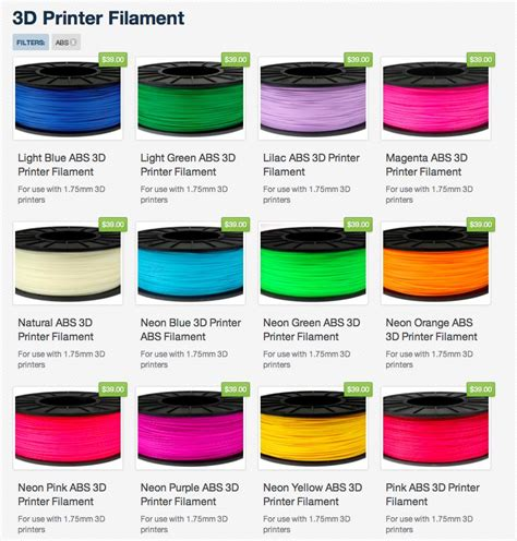 High Flow Pla 1 75mm 3d Printer Filament 1 high quality 3d printer filament abs end 7 5 2019 3 15 pm