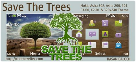 quotes themes for x2 01 save the trees theme for nokia c3 x2 01 asha 200 201 302