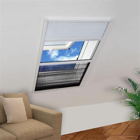 jalousie 80 cm vidaxl plisse insektenschutzfenster mit jalousie aluminium