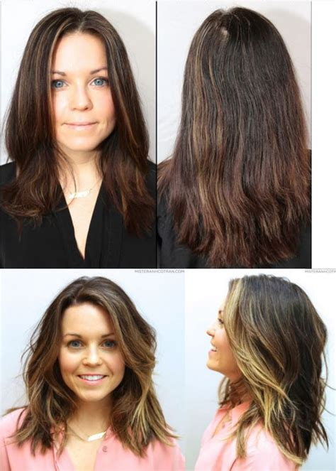 cut before dye hair haircut and color before and after hair makeover hair