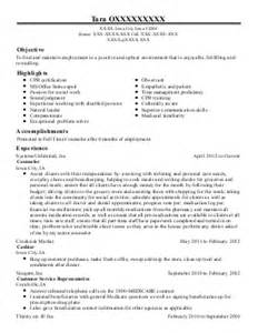 Child Welfare Specialist Cover Letter by Correctional Treatment Specialist Sle Resume