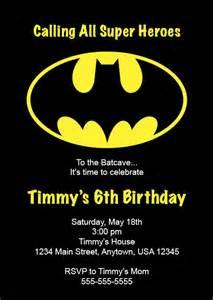 kid s birthday invitation batman