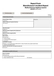 Incident Report Exle For Food Industry Best Photos Of Incident Report Form