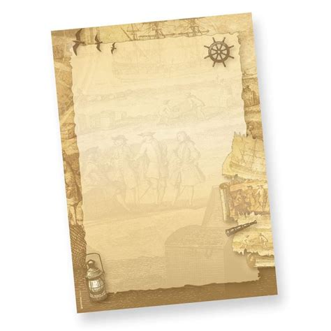 Vorlage Word Mittelalter briefbogen piraten seefahrer 1 000 blatt seefahrer briefpapier